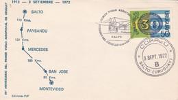 60 ANIVERSARIO PRIMER VUELO AERO POSTAL EN URUGUAY . SALTO 1972- BLEUP - Uruguay