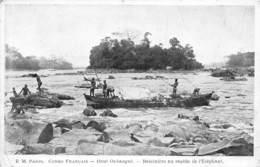 PIE-RO-18-7463 : CONGO FRANCAIS. HAUT OUBANGUI. BALEINIERE AU RAPIDE DE L'ELEPHANT. - Congo Français - Autres