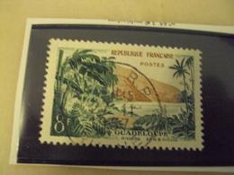 """1950-1959-timbre Oblitéré N°  1125   """"   Guadeloupe Riviere Sens  """"     Cote   0.15    Net        0.05 - France"""