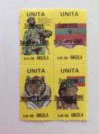 UNITA ANGOLA UNITA TIGER FAUNA AUTOMATIC FLAG BANNER ARMY SOLDIER WARRIOR PERSON ESPERANCA - Angola