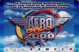 TARJETA TELEFONICA DE VENEZUELA. AEREO EXPO 2000, FUERZA AEREA VENEZOLANA, 11.00, CAN2-0575 (876) - Armada