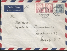 L) 1949 CZECHOSLOVAKIA, EDVARD BENES, 3K, RED, MILAN STEFANIK, 10K, BLUE, AIRMAIL, CIRCULATED COVER FROM CZECHOSLOVAKIA - Czechoslovakia