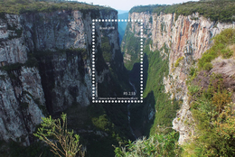 Brazil 2018 (pre-sale): Canyons. Two Sheets: Canyons Of Itaimbezinho And Fortaleza, Nature, Landscape. MNH - Géologie