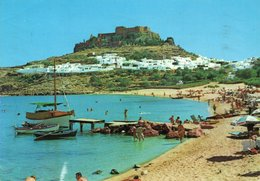 GREECE-RHODOS-VEDUTA DI LINDO-- VIAGGIATA - Grecia