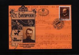Jugoslawien / Yugoslavia 1997 Composer Stanislav Binicki Michel 2826 FDC - Musik