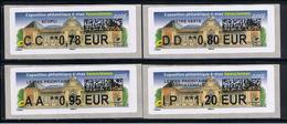 4 ATMs, LISA2, 0.78/ 0.80/ 0.95/ 1.20€ , èvenement Maximaphile è/max, 20/10 /2018, MUSÉE Des Beaux-arts, Valenciennes, - 2010-... Geïllustreerde Frankeervignetten