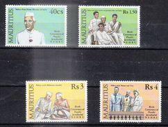 ILE MAURICE (MAURITIUS) - Timbre Poste Année 1989 - N° 711 à 714 (4 Timbres) - NEHRU - Mauritius (1968-...)