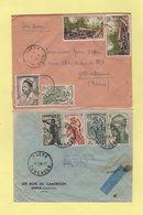 Cameroun - Eseka - Lot De 2 Lettres Destination France - Kamerun (1915-1959)