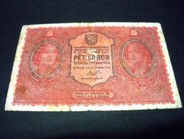 TCHECOSLOVAQUIE 5 Korunu/Couronne 15/04/1919, Pick N° 7, CZECHOSLOVAKIA - Tchécoslovaquie