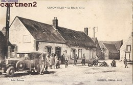 GENONVILLE LA RUE DE VOVES CAFE RESTAURANT COEURJOLY FLEURY AUTOMOBILE 28 - Francia