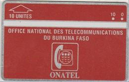 Burkina Faso - BKF-01, ONATEL, Red 10, L&G, 10U, 105H, 4.000ex, 5/91, Mint / Unused - Burkina Faso