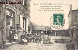 BOISMONT MAISON J. VOISVENEL POSE ET VENTE DE SONNERIES ELECTRIQUES PUBLICITE 80 SOMME - France