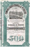 Ancienne Action -Compañia Franco-Española De Petroleos - Titulo De 1921 - Petrolio