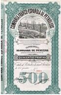 Ancienne Action -Compañia Franco-Española De Petroleos - Titulo De 1921 - Pétrole