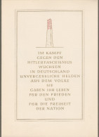 """DDR: Gedenkblatt Mit Mi-Nr. 752-56  SST, 765-67 ESST, 783 ESST, 783 : """" Konzentrationslager Sachsenhausen """" !    X - Storia Postale"""