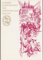 """DDR: Gedenkblatt Mit Mi-Nr. 1874-75 U. 1876 Bl.39 ESST: """" 20 Jahre Kampfgruppen Der Arbeiterklasse Der DDR """" !   X - [6] République Démocratique"""