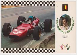 [953] AUTOMOBILISMO Jacky ICKX (Belgique), FERRARI F-2 225 CV (1969). Non écrite. No Escrita. Non Scritta, Unused. - Grand Prix / F1