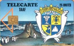 TAAF - TF-STA-0001, Sea Elephants, Penguins, Sea (Marine) Mammals, Seals, 1000ex, 9/94, Mint / Unused - TAAF - Franse Zuidpoolgewesten