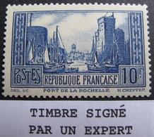 R1680/181 - 1929 - PORT DE LA ROCHELLE - N°261 III NEUF** Signé Par Un Expert - Cote : 170,00 € - France
