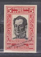 ECUADOR 1930 PROOF SPECIMEN WATERLOO & SONS CENTENARY OF REPUBLIC FOUNDATION SIMON BOLIVAR IN RED 5 SUCRES SC# 315 MNH - Ecuador