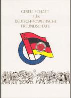 """DDR: Gedenkblatt Mit Mi-Nr. 2115, Bl. 44 ESST: """" Gesellschaft Für Deutsch-Sowjetische Freundschaft """" !  X - [6] République Démocratique"""