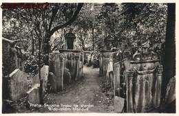 JUDAICA CIMETIERE JUIF PRAGUE PRAHA Skupina Hrobu Na Starem Zidovskem Hrbitove Churchyard TOMBE JEWISH Synagogue - Judaisme