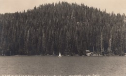 Huntington Lake California, Billy Creek Camp An Dedward's Place, Sail Boat, C1940s/50s Vintage Real Photo Postcard - Other