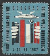 Yugoslavia Beograd Book Advertising Cinderellas Stamp 1962 - Schrijvers