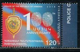 XE1110 Armenia 2018 Police Hundred Years National Flag Fingerprint Etc. 1V MNH - Armenia