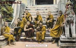 BURMESE BUDDIST PRIESTS  BIRMANIE MYANMAR BOUDDHISTE MOINE MONK BURMA - Myanmar (Burma)