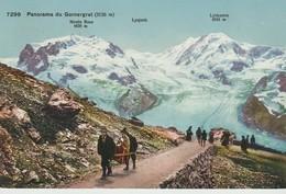 C.P.A. - 7299 - PANORAMA DU GORNERGRAT - ANIMÉE - CHAISE A PORTEUR - TAESCH - HOTEL TAESCHHORN - AMIL LAGGER - - VS Valais