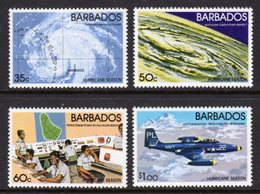 BARBADOS - 1981 HURRICANE SEASON SET (4V) FINE MNH ** SG 685-688 - Barbados (1966-...)
