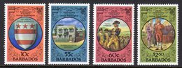 BARBADOS - 1982 GEORGE WASHINGTON ANNIVERSARY SET (4V) FINE MNH ** SG 714-717 - Barbados (1966-...)