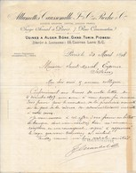 """FRANCE - En-tête De Lettre """"Allumettes Caussemille Et Roche Cie"""" Paris 7 Rue Caumartin - 1898 - Manuscrite - France"""