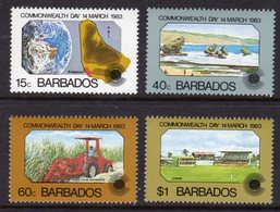 BARBADOS - 1983 COMMONWEALTH DAY SET (4V) FINE MNH ** SG 722-725 - Barbados (1966-...)