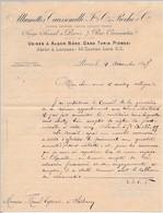 """FRANCE - En-tête De Lettre """"Allumettes Caussemille Et Roche Cie"""" Paris 7 Rue Caumartin - 1897 - Manuscrite - France"""