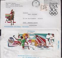 USA - 1987 - Airmail - Aerogram - Olympic Games 1984 - Poste Aérienne