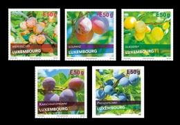 Luxembourg 2018 Mih. 2188/92 Flora. Berries. Plum Varieties MNH ** - Ongebruikt