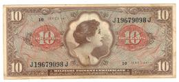 USA, 10 Usd, MPC, Series 641, VF+. - Military Payment Certificates (1946-1973)