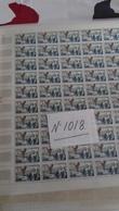 FEUILLE COMPLETE  YT 1018 TTB NON PLIEE ANNEE 1955 - Feuilles Complètes