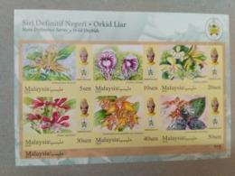 MALAYSIA 2018 WILD ORCHIDS Definitive State Series MS Stamps ImPerf Terengganu Trengganu Sultan Mizan Mnh - Malaysia (1964-...)