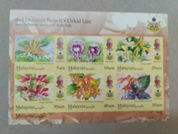 MALAYSIA 2018 WILD ORCHIDS Definitive State Series MS Stamps IMPerf Kelantan Sultan  Mnh - Malaysia (1964-...)