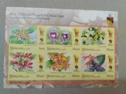 MALAYSIA 2018 MNH WILD ORCHIDS Definitive State Series MS Stamps ImPerf Negeri Sembilan Negri Sembila Sultan Muhriz - Malaysia (1964-...)