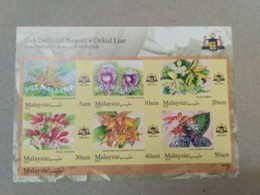 MALAYSIA 2018 MNH WILD ORCHIDS Definitive State Series MS Stamps ImPerf Malacca Melaka - Malaysia (1964-...)