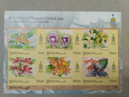 MALAYSIA 2018 MNH WILD ORCHIDS Definitive State Series MS Stamps ImPerf Penang - Malaysia (1964-...)