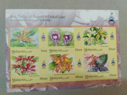 MALAYSIA 2018 MNH WILD ORCHIDS Definitive State Series MS Stamps ImPerf Sabah Noth Borneo - Malaysia (1964-...)