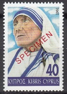 Specimen, Cyprus Sc994 Mother Teresa (1910-97) - Mère Teresa