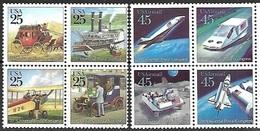 US  1989 25c & 45c UPU  Blocks  MNH - Etats-Unis