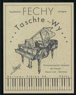 Rare // Etiquette De Vin // Musique // Féchy, Taschte-Wy, Piano - Musique
