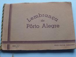 Lembrança De PORTE ALEGRE Série A / Carnet De 8 Photocarte / Ansichtskarten / Cartes Vues ( Foto Postal CANAZARO ) ! - Porto Alegre